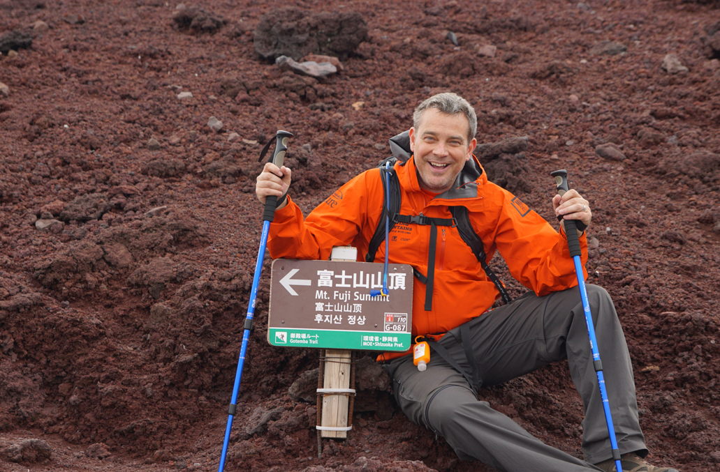 Ryan Anthony, patient with multiple myeloma, climbed to the top of Mount Fuji with Moving Mountains for Multiple Myeloma